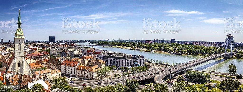Bratislava panorama stock photo