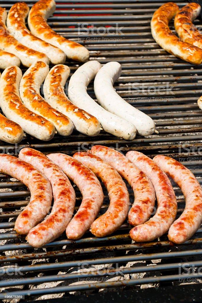 Bratwurst Barbecue royalty-free stock photo