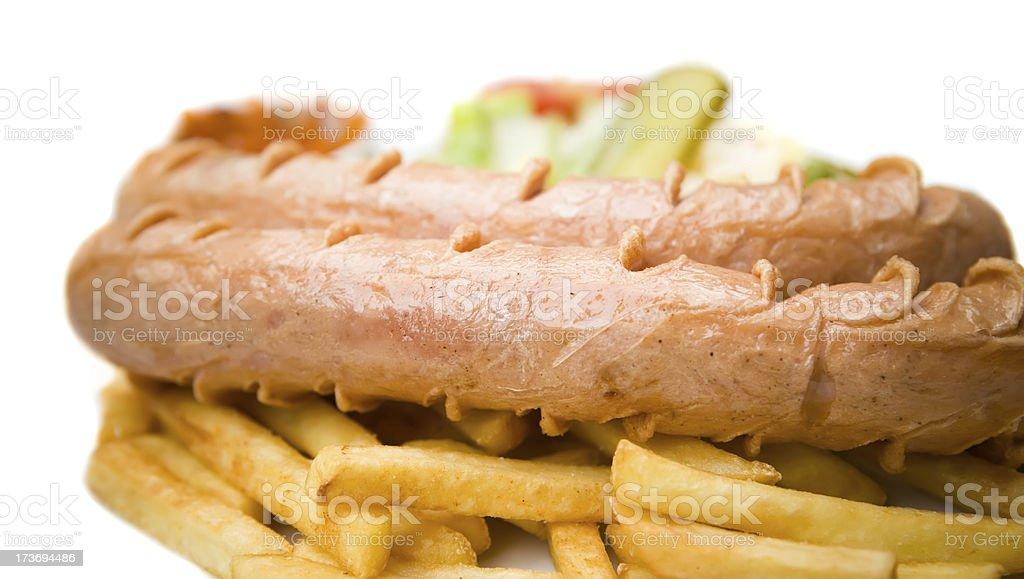 Bratwurst royalty-free stock photo