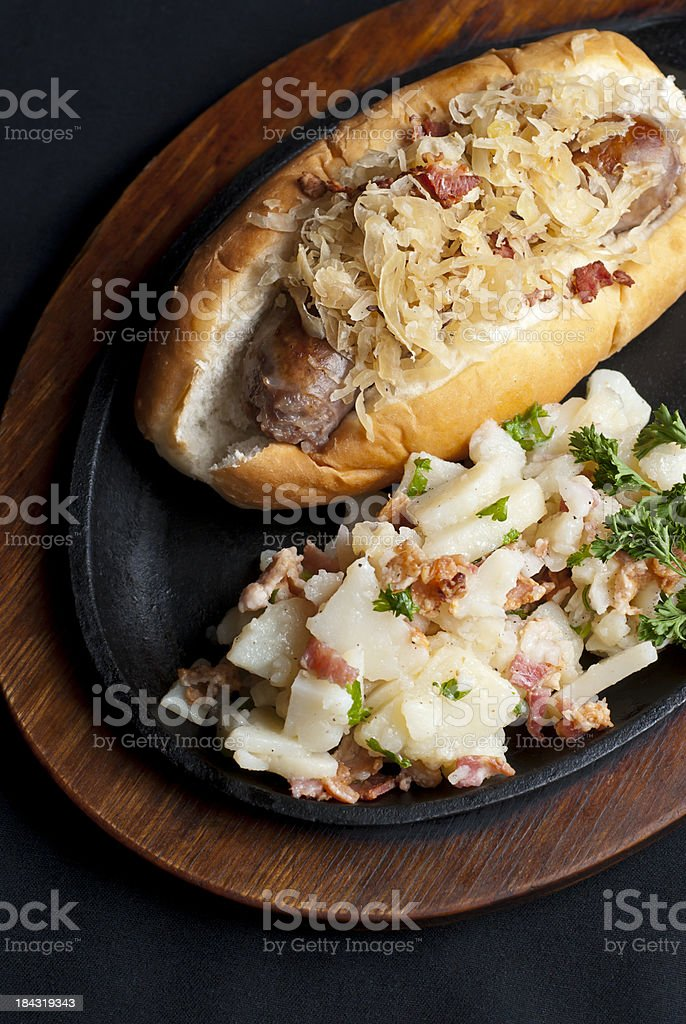 Bratwurst royalty-free stock photo