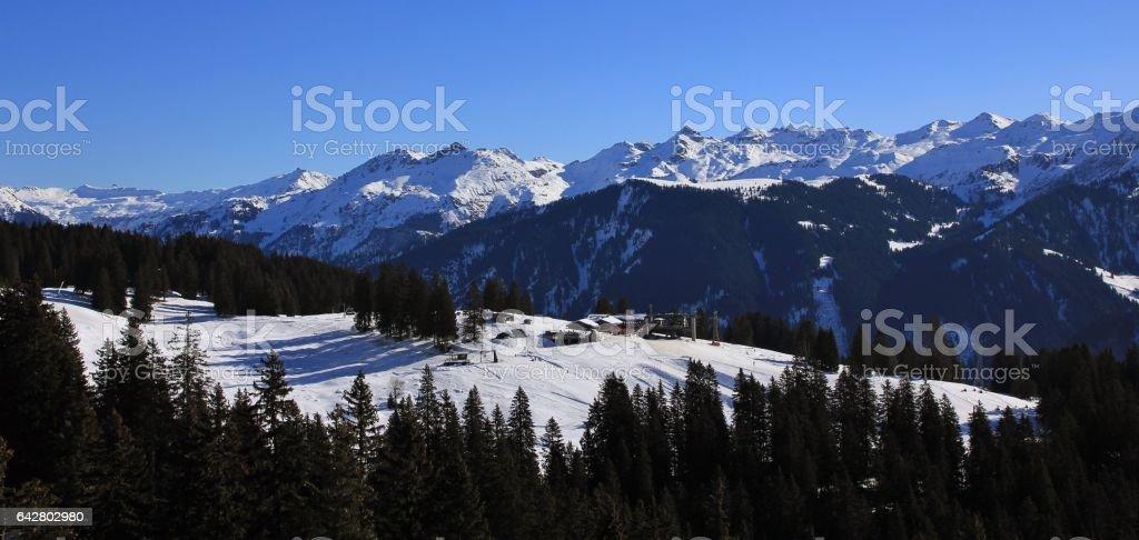 Braunwald ski area stock photo