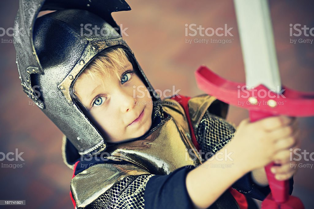 Brave knight stock photo