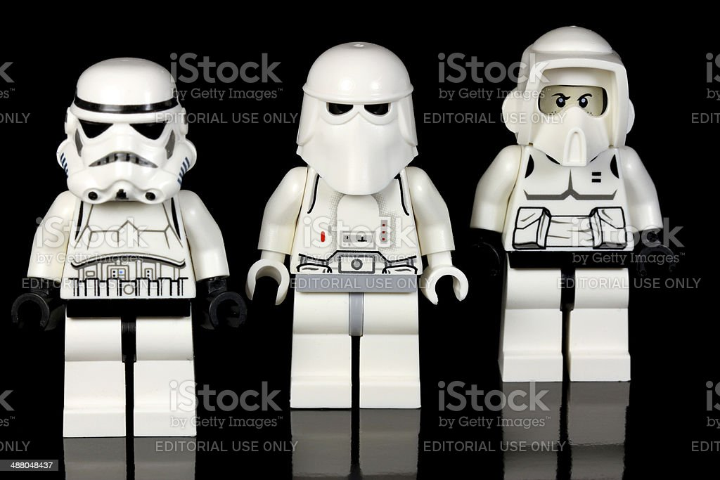 Brave Lego Soldiers stock photo
