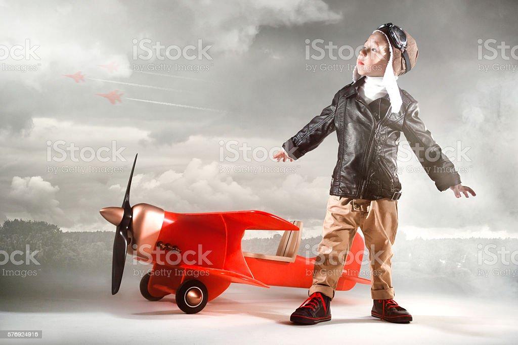 Brave Little Aviator stock photo