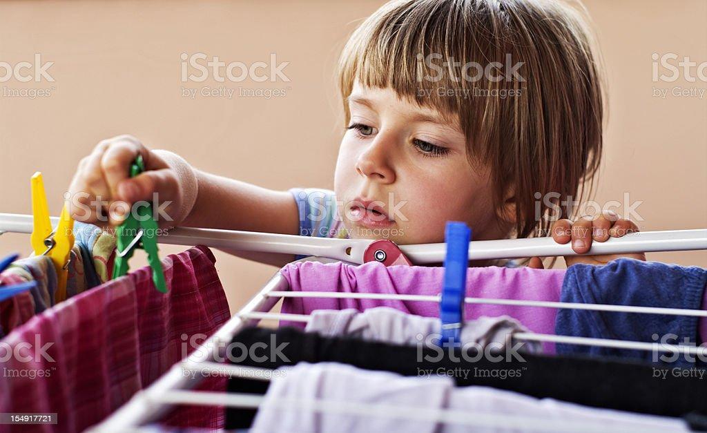 Brave little helper royalty-free stock photo