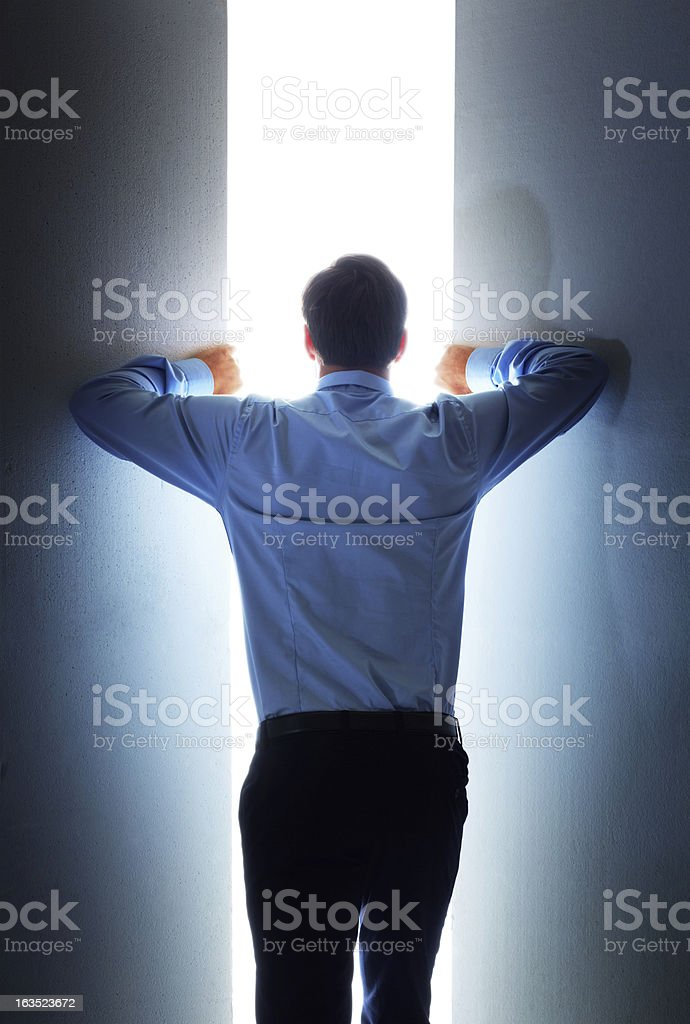 Brave new business worlds royalty-free stock photo