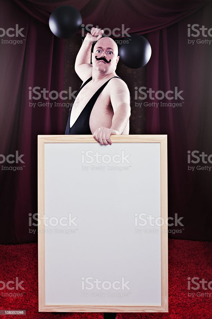 Brave Strongman stock photo