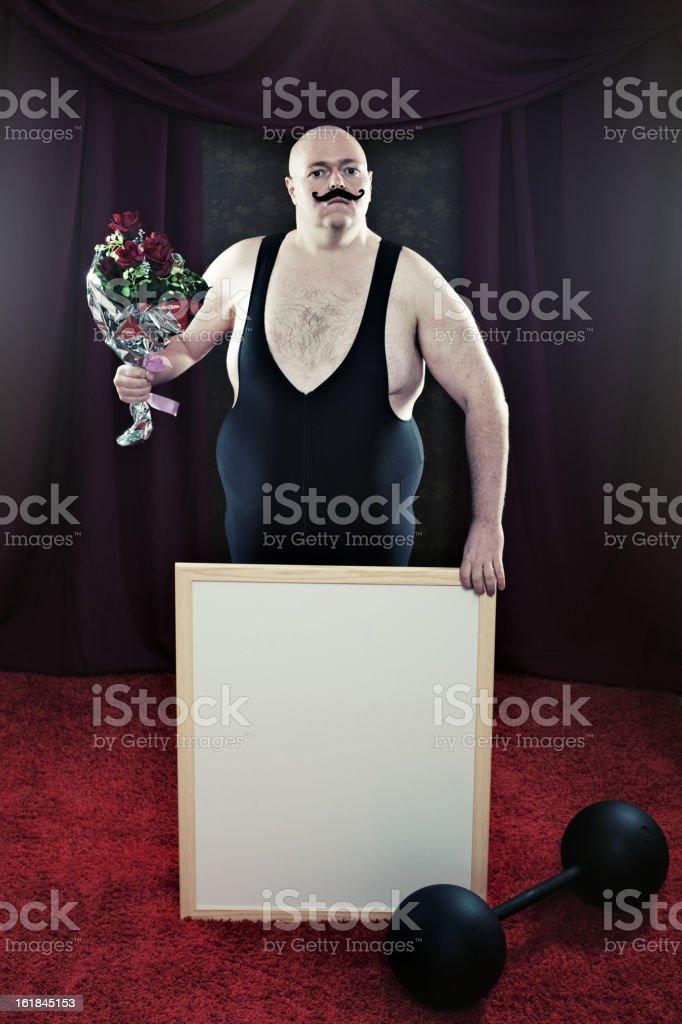 Brave Strongman royalty-free stock photo