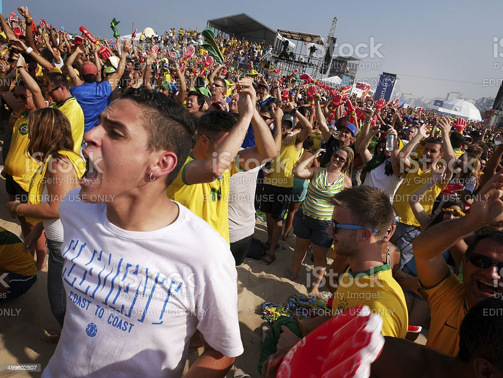 Brazil 1, Chile 0 stock photo