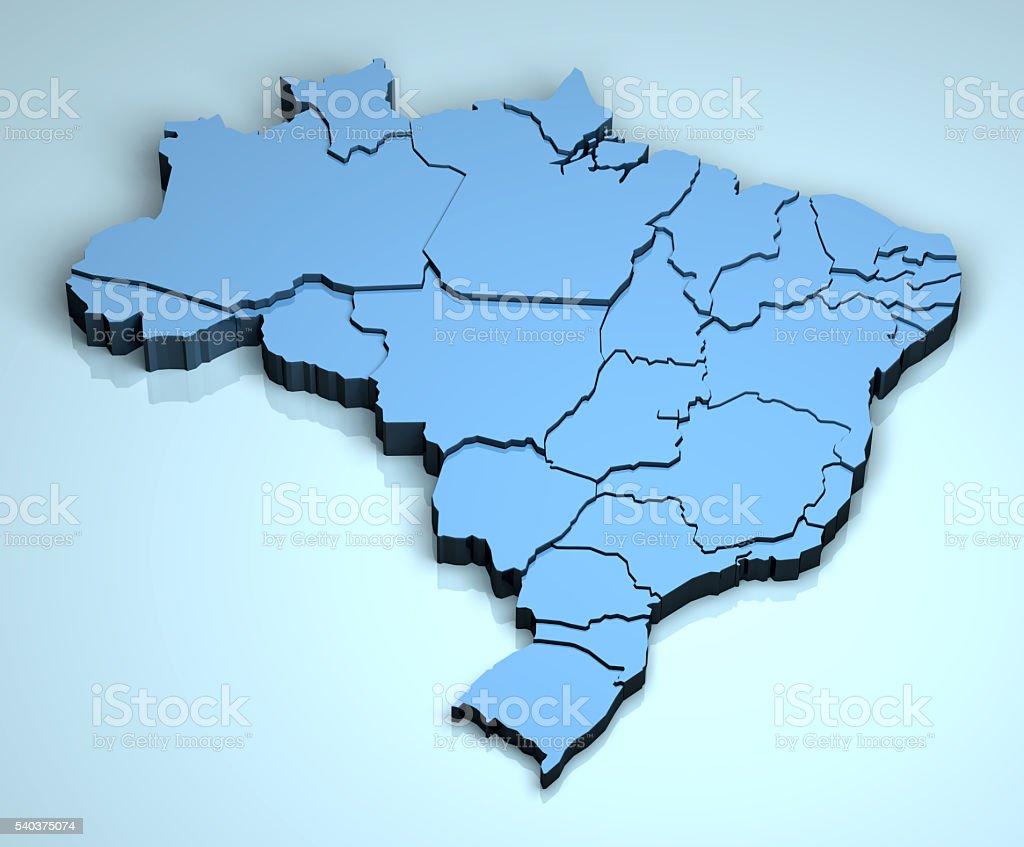 Brazil 3D stock photo