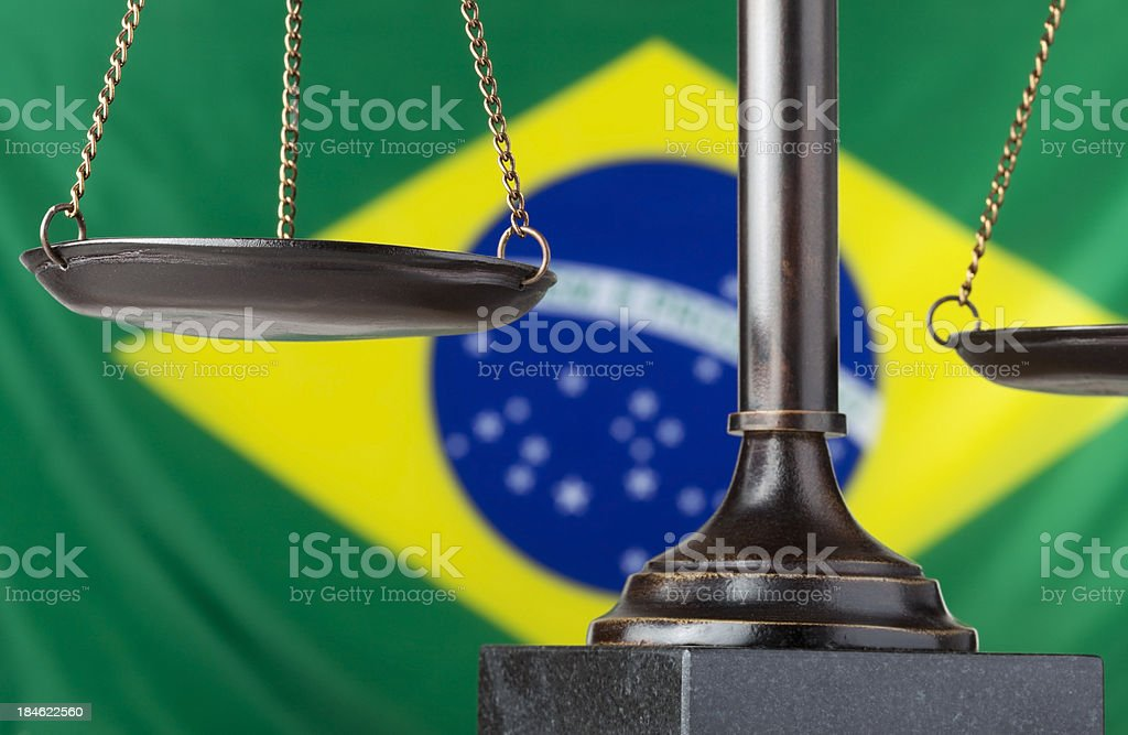 Brazil and justice royalty-free stock photo