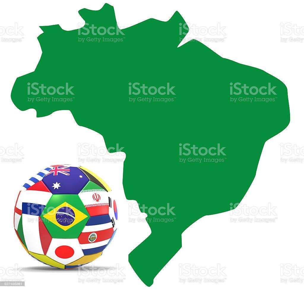 Brazil ball stock photo