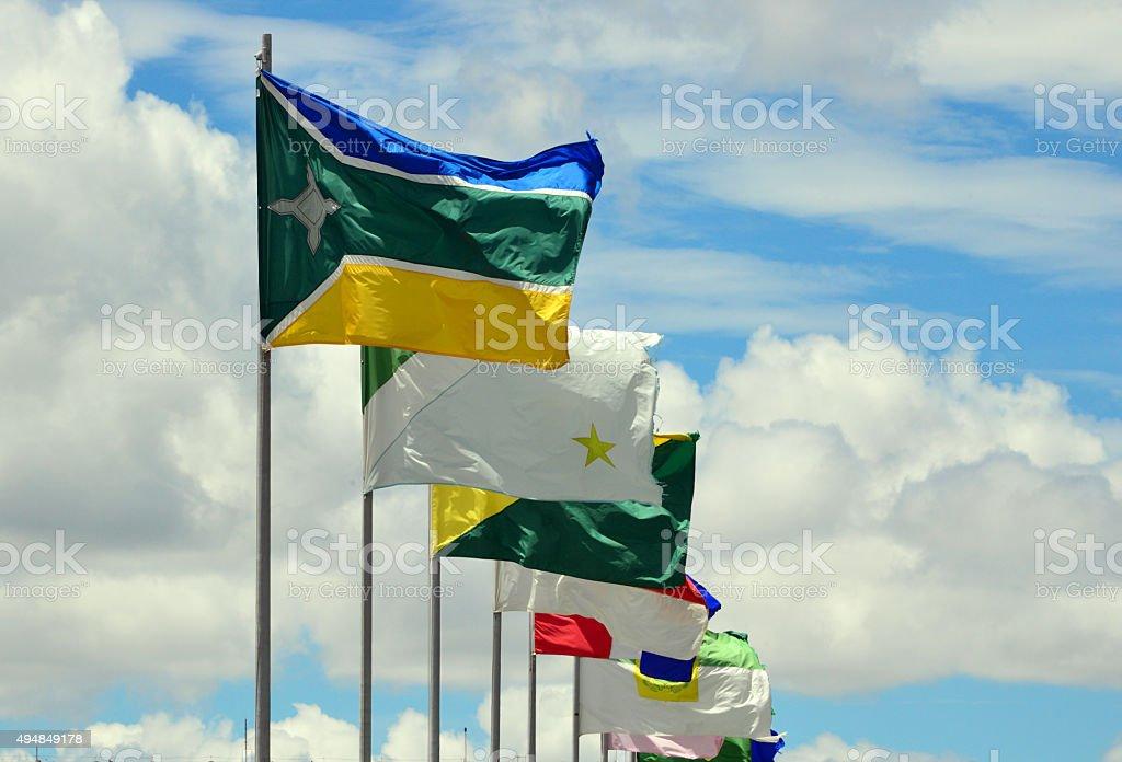 Brazil, Brasilia, Esplanada dos Ministérios stock photo