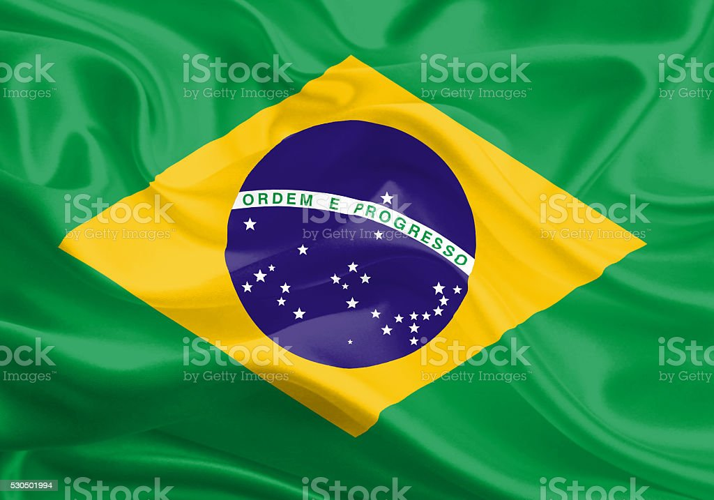 Brazil - brazilian flag stock photo