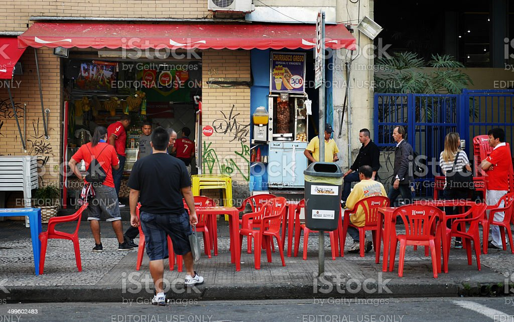 Brazil cafe culture stock photo