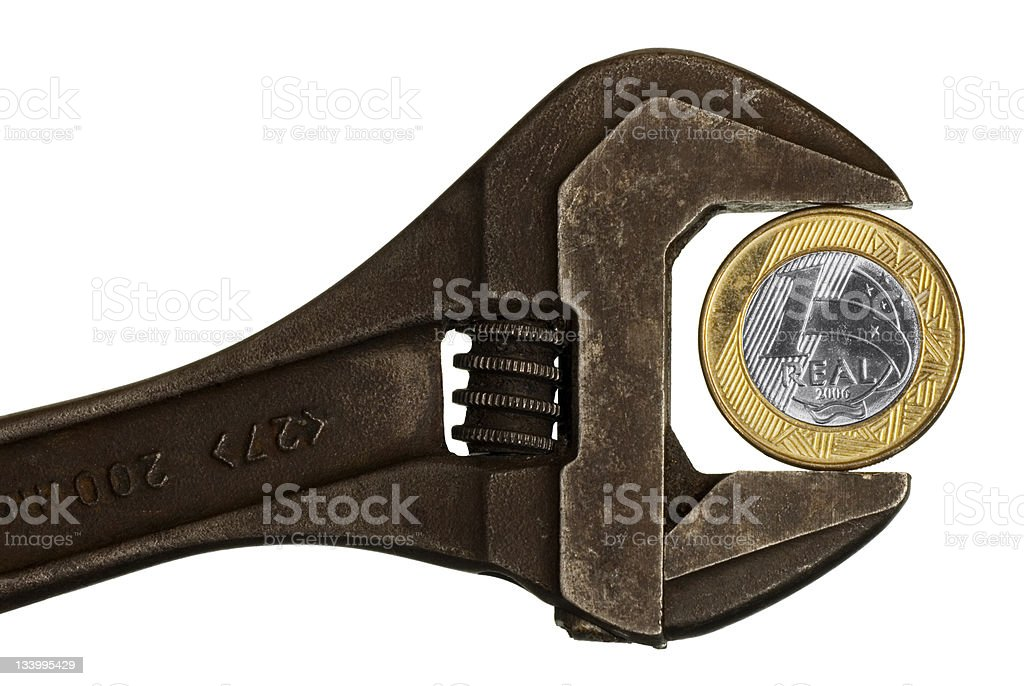 Brazil Coin BRL stock photo