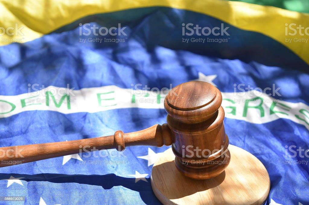 Brazil enforcement Concept stock photo