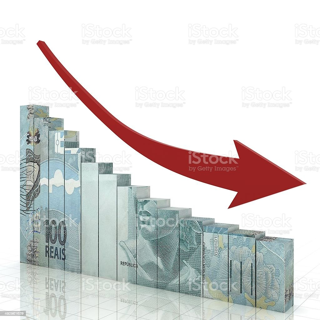 Brazil Finance Crisis stock photo