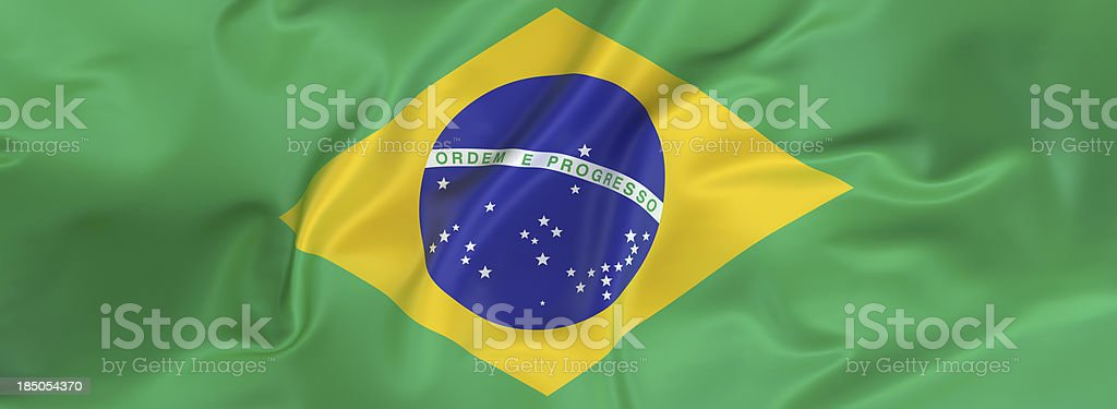 Brazil Flag banner royalty-free stock photo