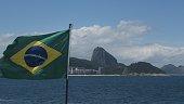 Brazil Flag in Rio de Janeiro