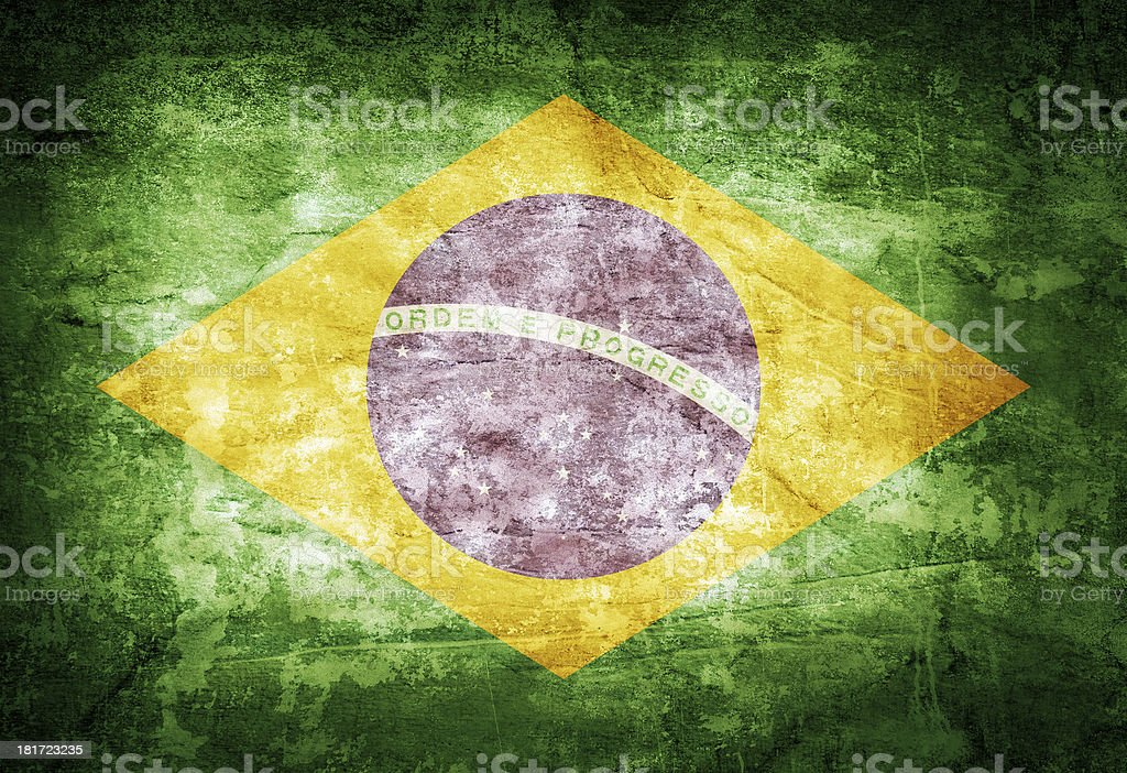 Brazil flag royalty-free stock photo