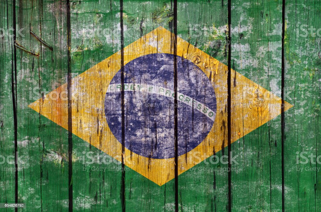 Brazil flag stock photo