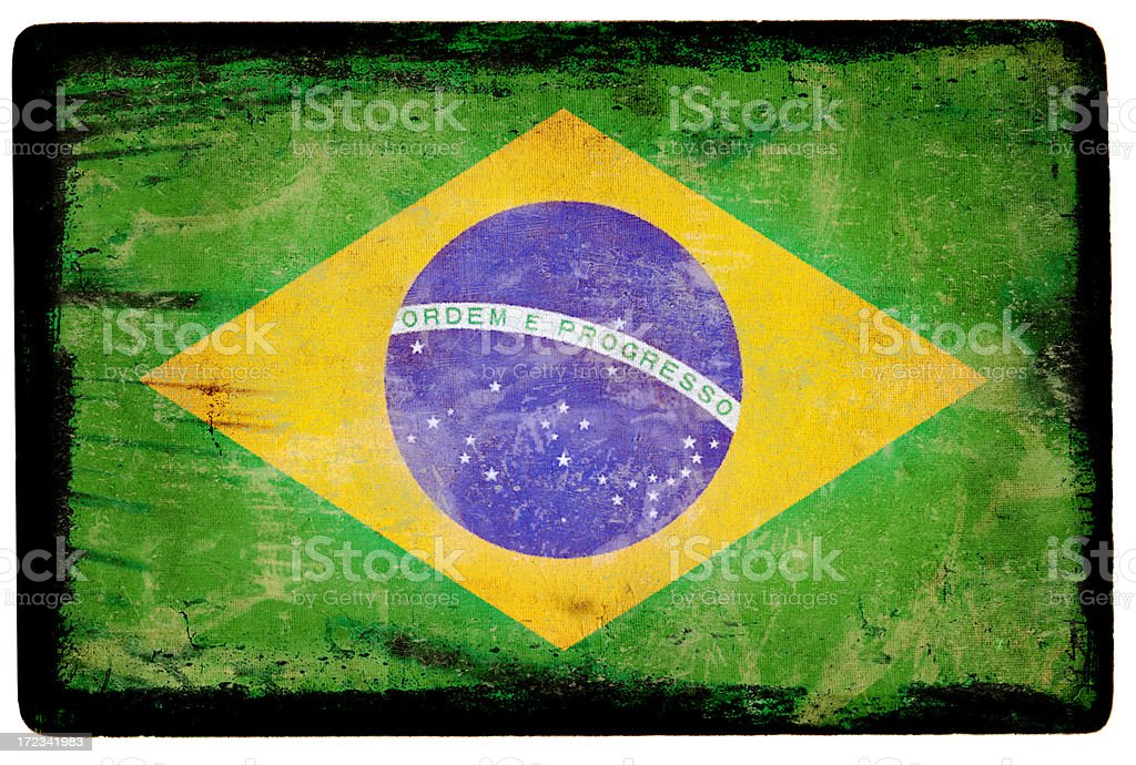 Brazil Flag XXL royalty-free stock photo