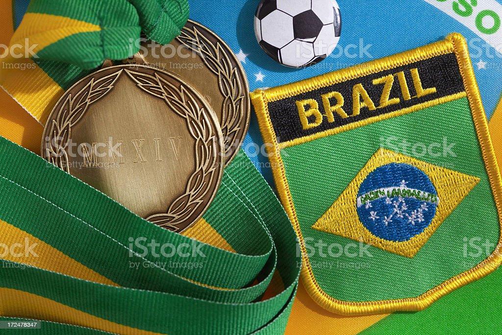 Brazil Football Winners royalty-free stock photo