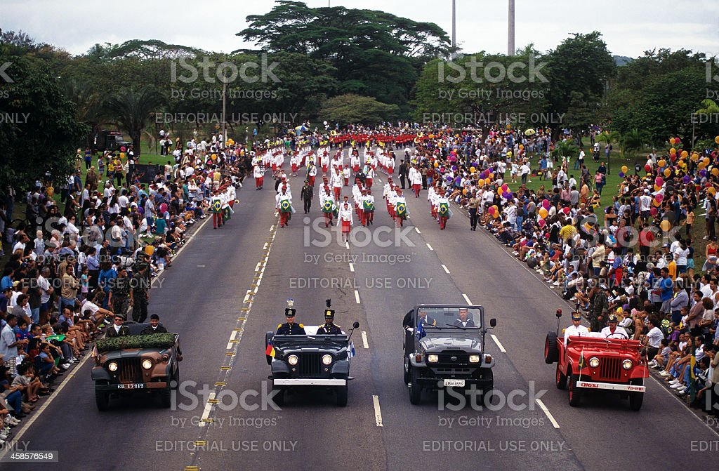 Brazil Independence Day parade in Rio stock photo