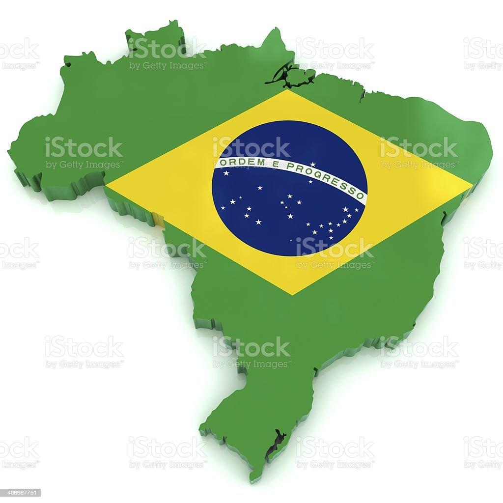 Brazil Map royalty-free stock photo