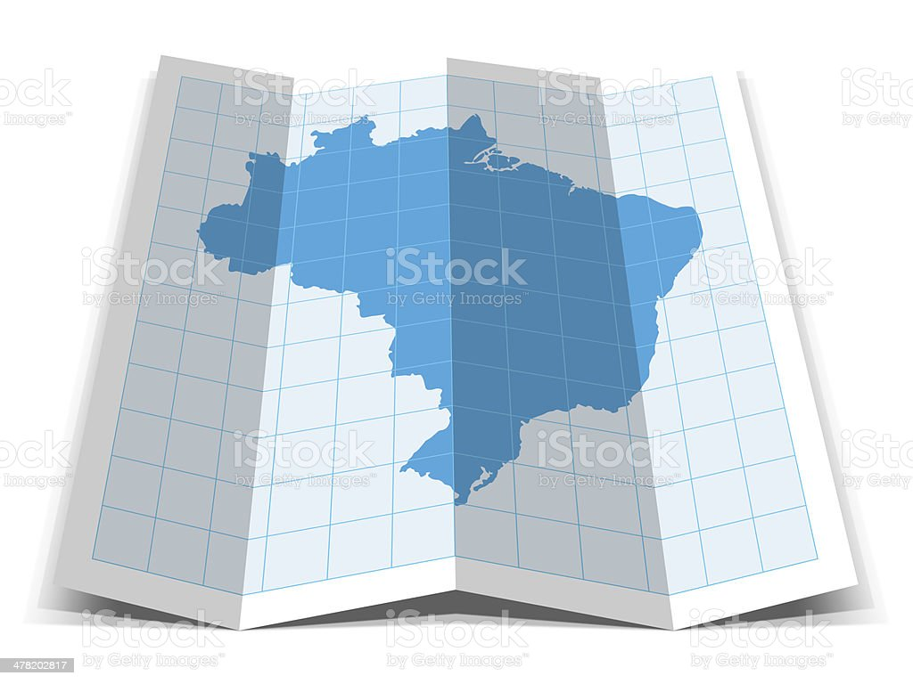 Brazil Map stock photo