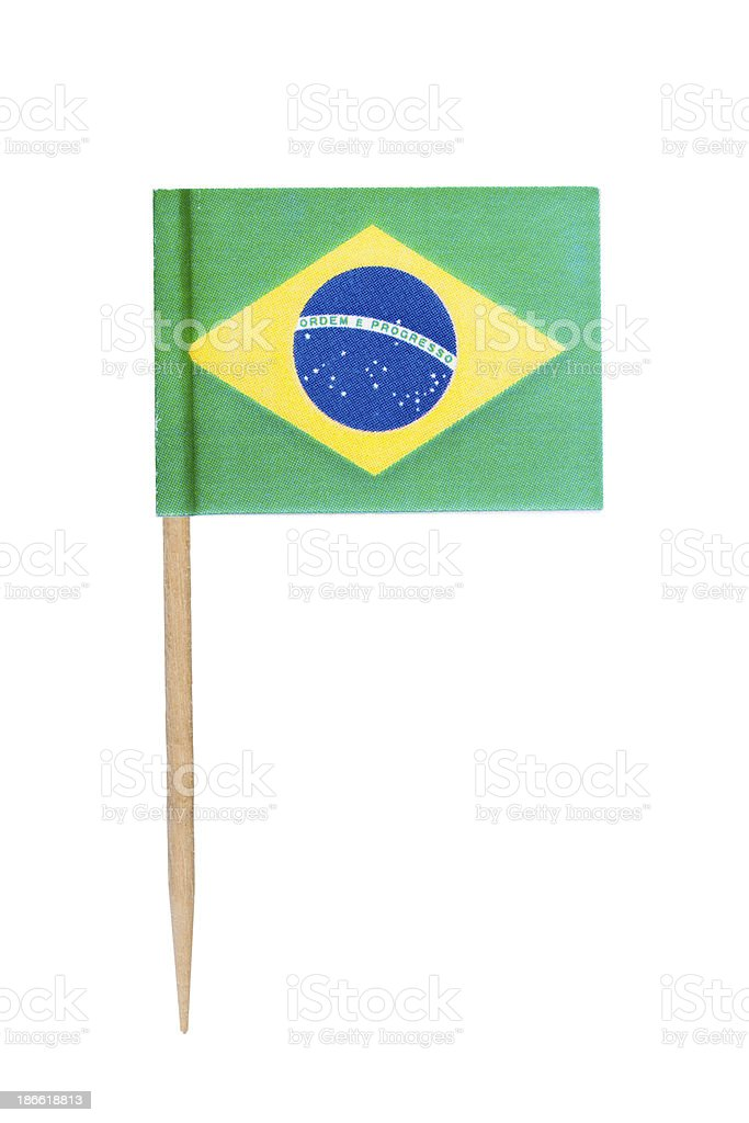 Brazil paper flag stock photo
