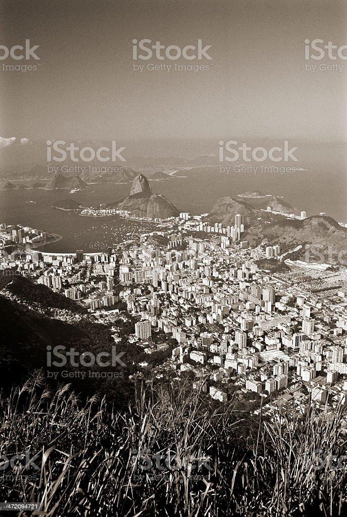 Brazil, Rio de Janeiro, view from Corcovado. royalty-free stock photo