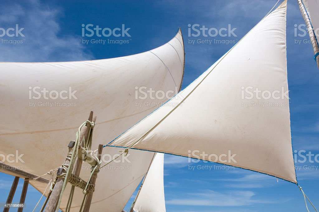 Brazil Sails of Brazilian Jangadas stock photo