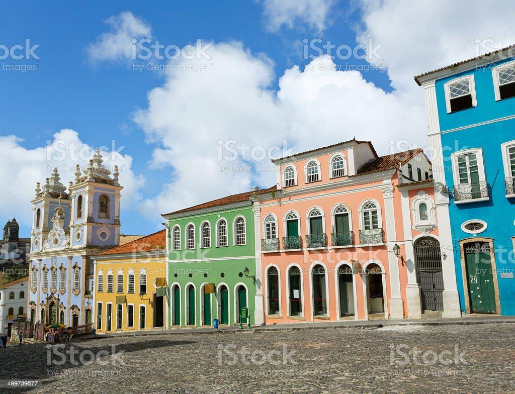 Brazil Salvador Pelourinho Church of Nosso Senhor do Bonfim stock photo