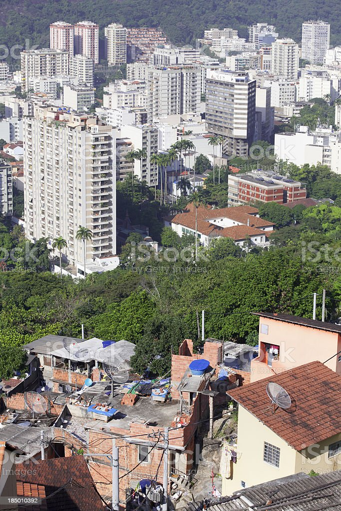 Brazil social contrast between rich and poor royalty-free stock photo