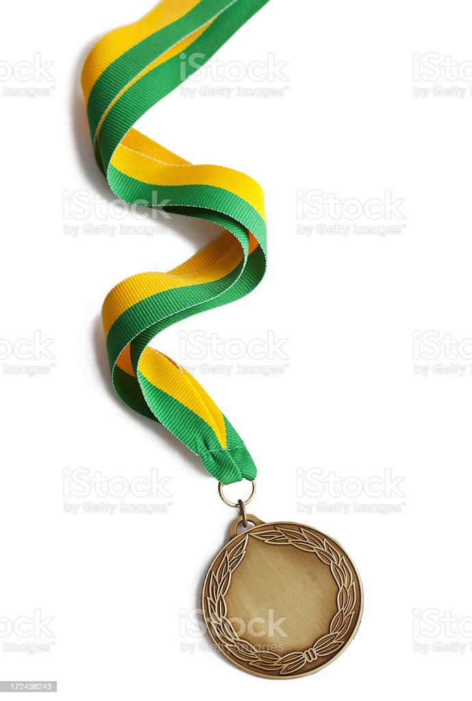 Brazil Sport Winners Medal stock photo