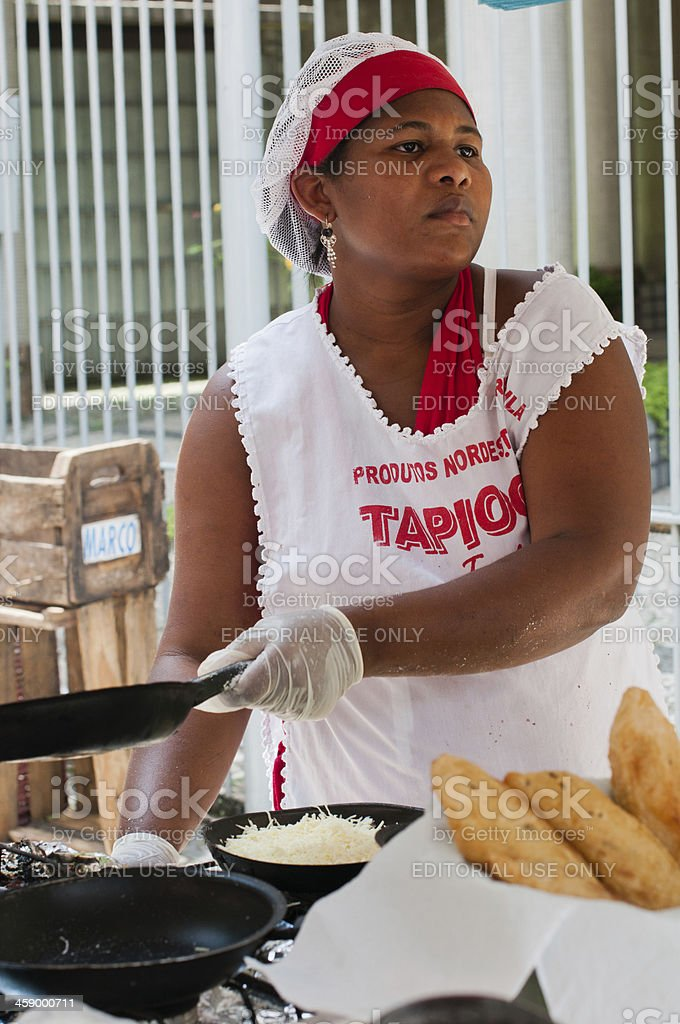 Brazil, Street Cooking stock photo