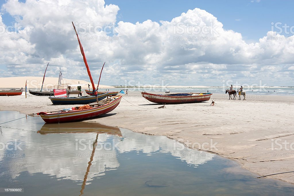 Brazil, Tropical Beach. Jericoacoara. stock photo