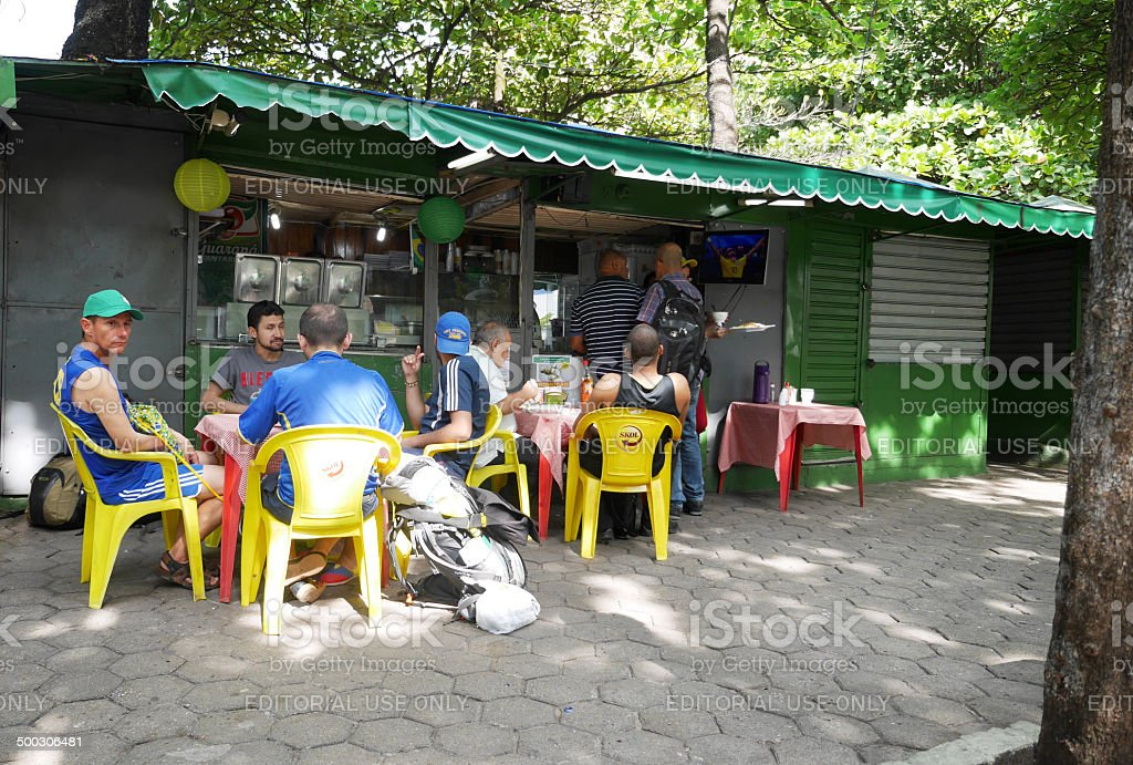 Brazil World Cup cafe culture stock photo