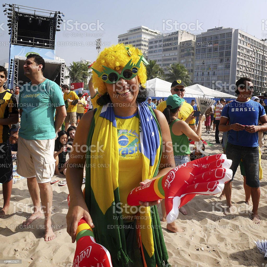 Brazil World Cup character stock photo