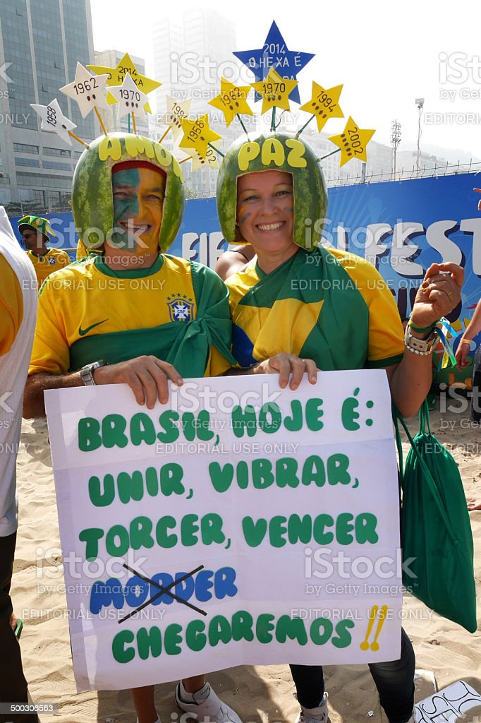 Brazil World Cup characters stock photo