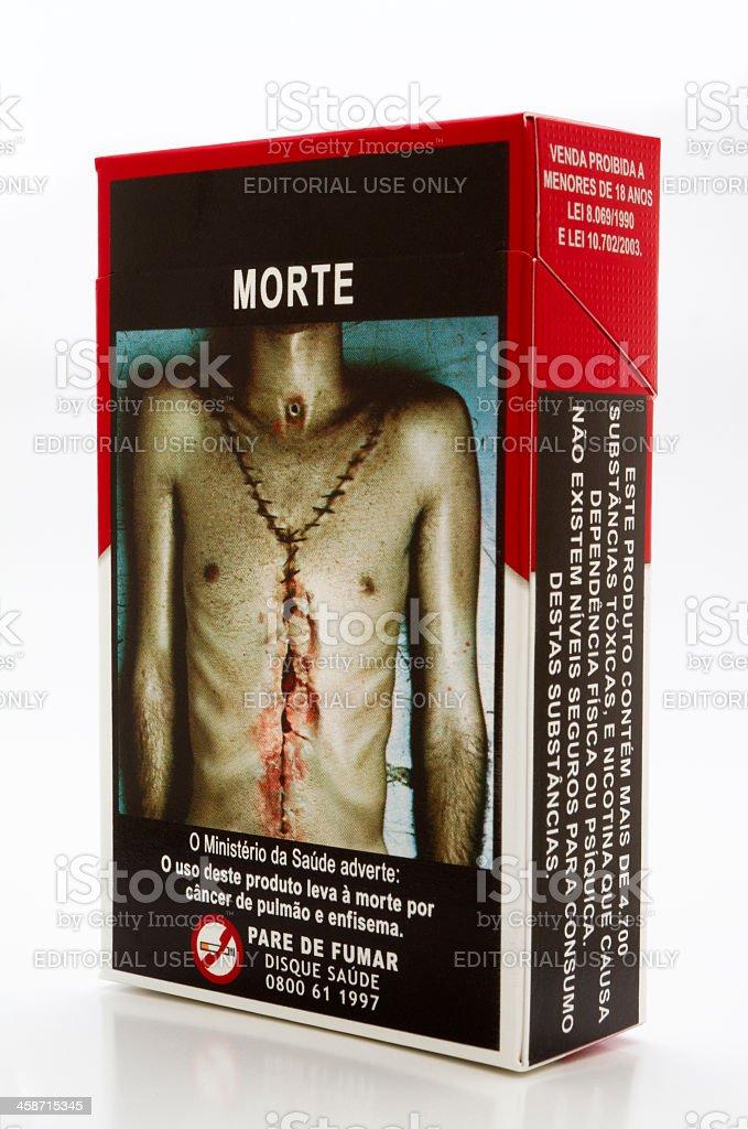 Brazilian against smoking law royalty-free stock photo