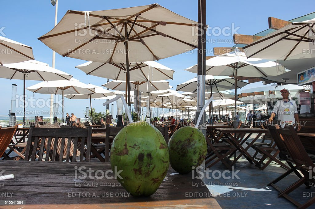 Brazilian beach restaurant stock photo