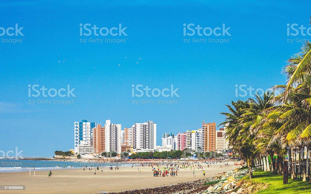 Brazilian beach scene. stock photo
