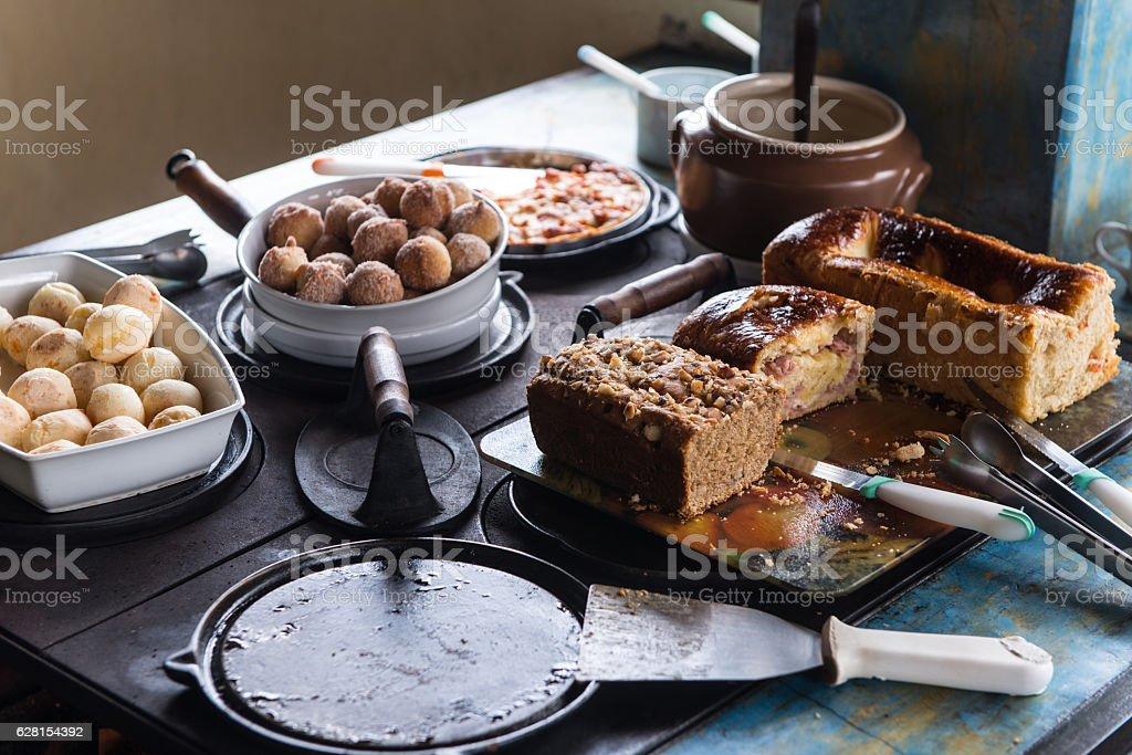 Brazilian breakfast stock photo