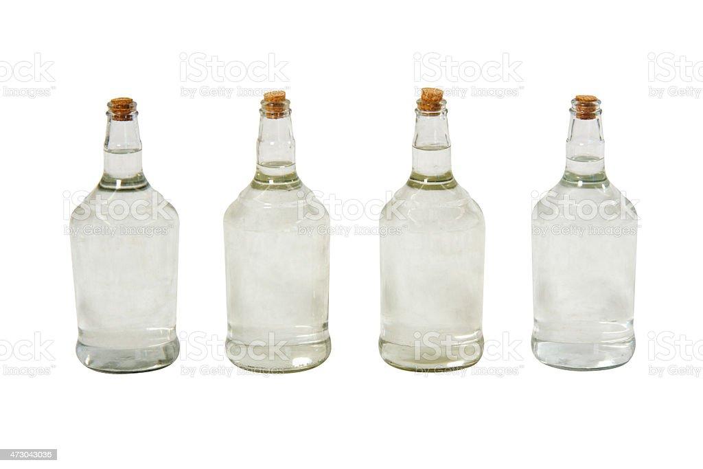 Brazilian cachaca bottles stock photo