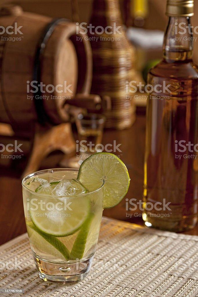Brazilian Caipirinha Drink stock photo