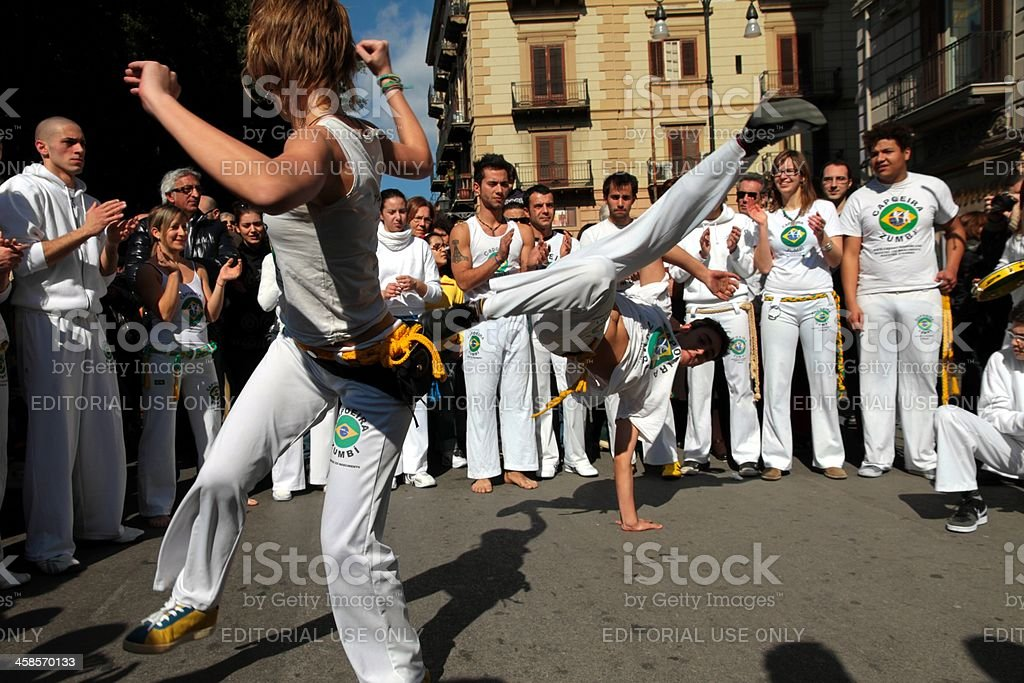 Brasilian Capoeira royalty-free stock photo