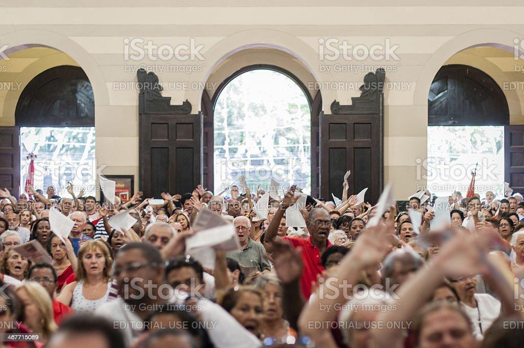 Brazilian Catholics stock photo